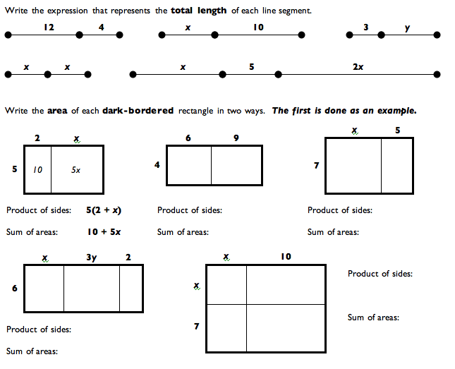 Multiplication Worksheets multiplication worksheets area model – Area Models for Multiplication Worksheets