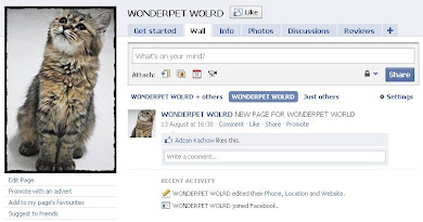 WONDERPET WORLD FACEBOOK