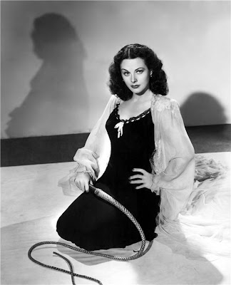 I'm not sure why Hedy Lamarr has this whip.