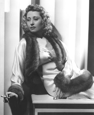 Joan Blondell all furry.