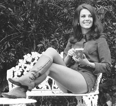 Natalie Wood with coffee and no pants.