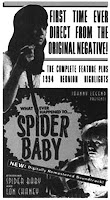 Jill on the poster for Spider Baby