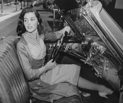 Pier Angeli out for a spin.