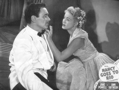 Barry Sullivan with creamy Jane Powell.
