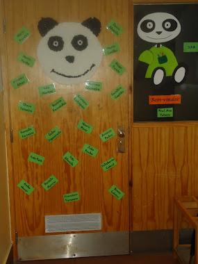 A porta da nossa sala