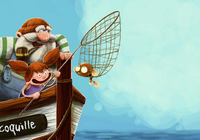 lilou elliott peche barque livre jeunesse mer maritime poisson fille Blogger référencement
