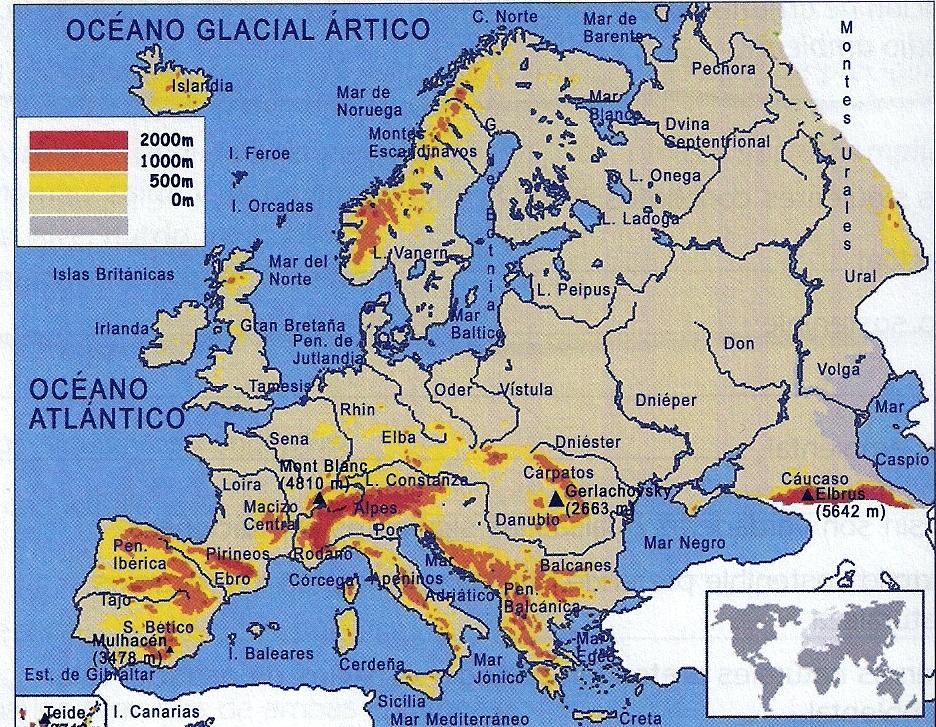 De Esperanza a dos minutos Mapas restantes geografa mudo fsico