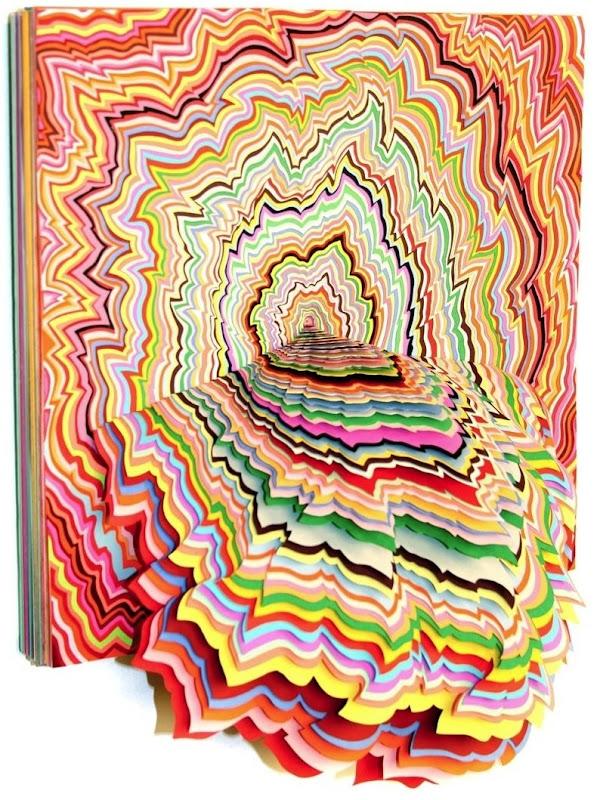 paper sculpture of Jen Stark