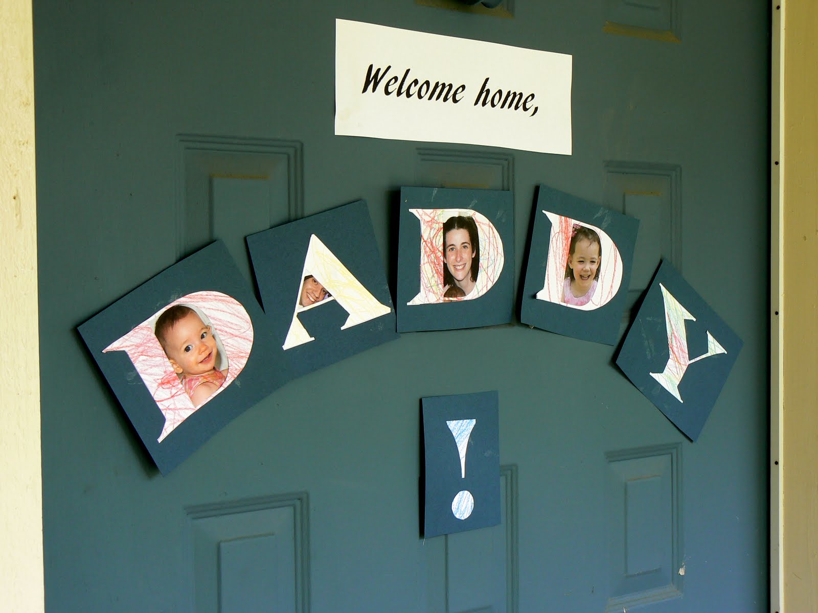 having fun at home welcome home photo sign