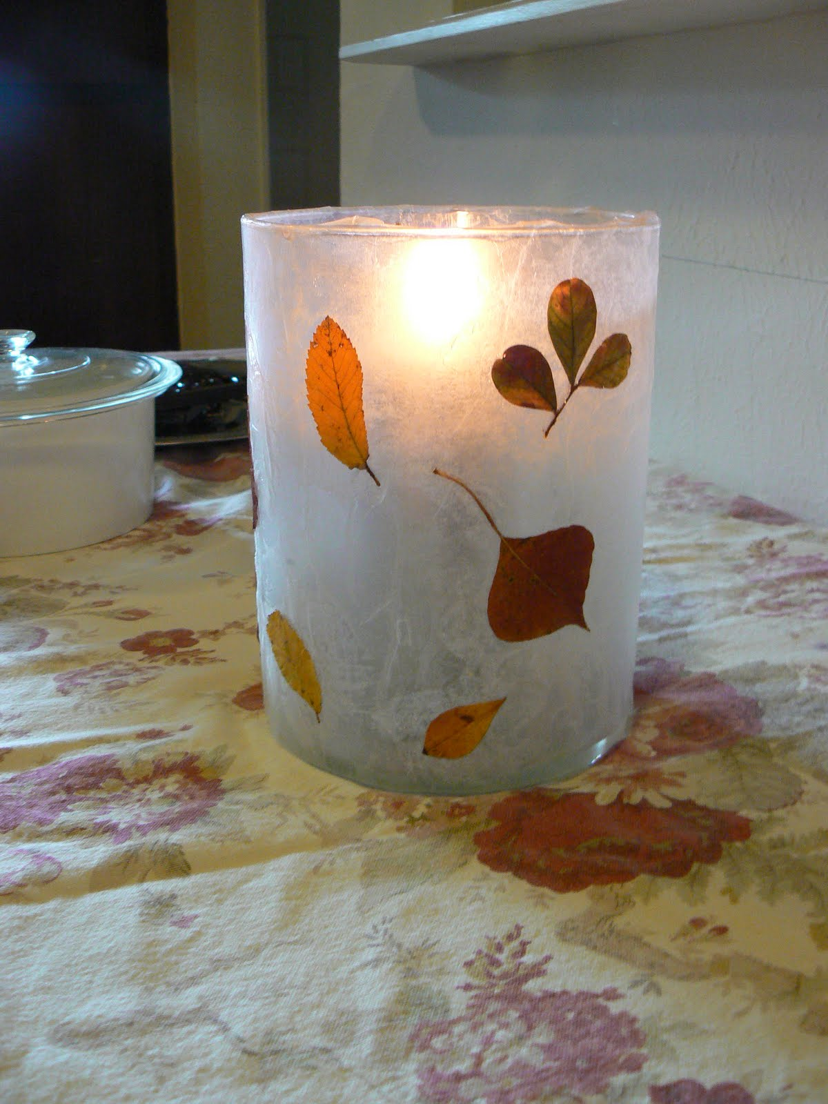 Having fun at home wax paper candle holders for Cardboard candle holders