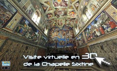 le pictographe visite de la chapelle sixtine en 3d