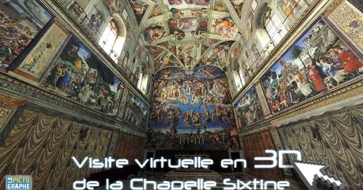 Visite de la chapelle sixtine en 3d le pictographe - Fresque du plafond de la chapelle sixtine ...