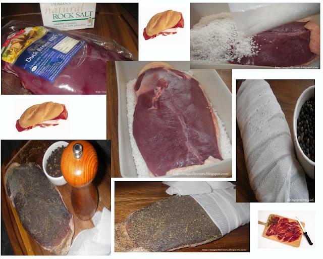 Homemade duck prosciutto / Presunto caseiro de pato / Jamón casero de ...