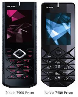 Nokia 7900 7500 Prism telefonai