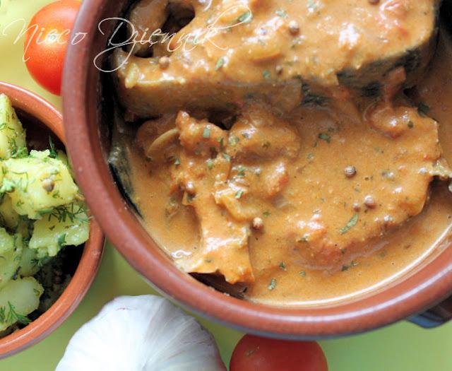 curry z ryby łososia dieta Dukana obiad