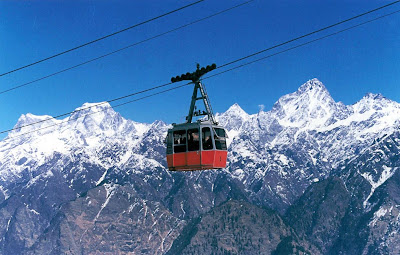 sightseeing through Ropeway @ Auli