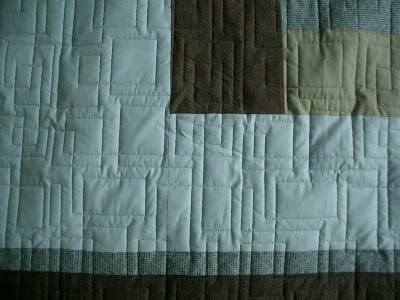 contemporary quilt i used a contemporary quilting design to complement ...