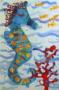 """Eric Carle Inspired Seahorse""  Art Lesson Plans. 16-page PDF Booklet . $5"