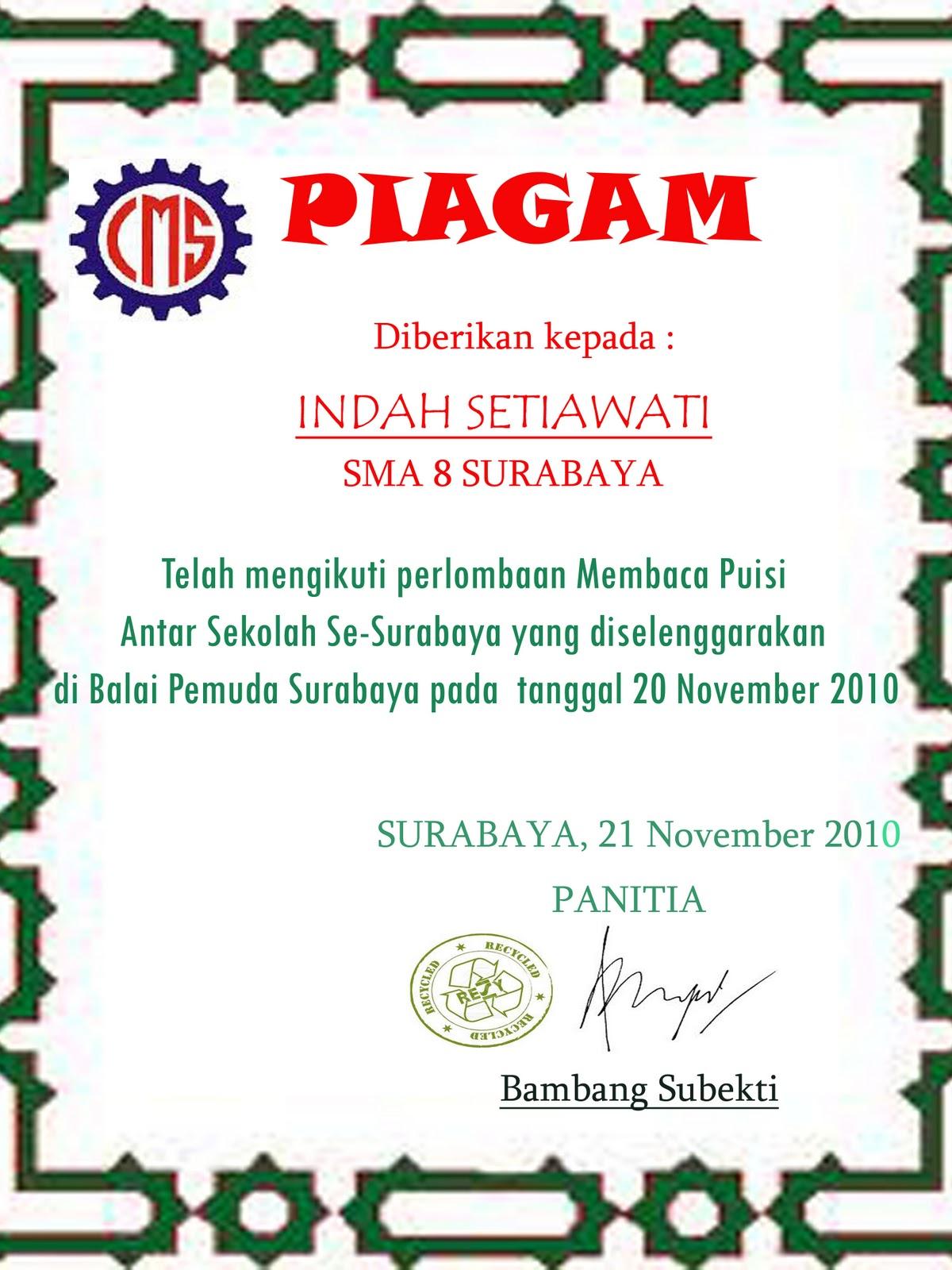 Iendahsmansby Piagam
