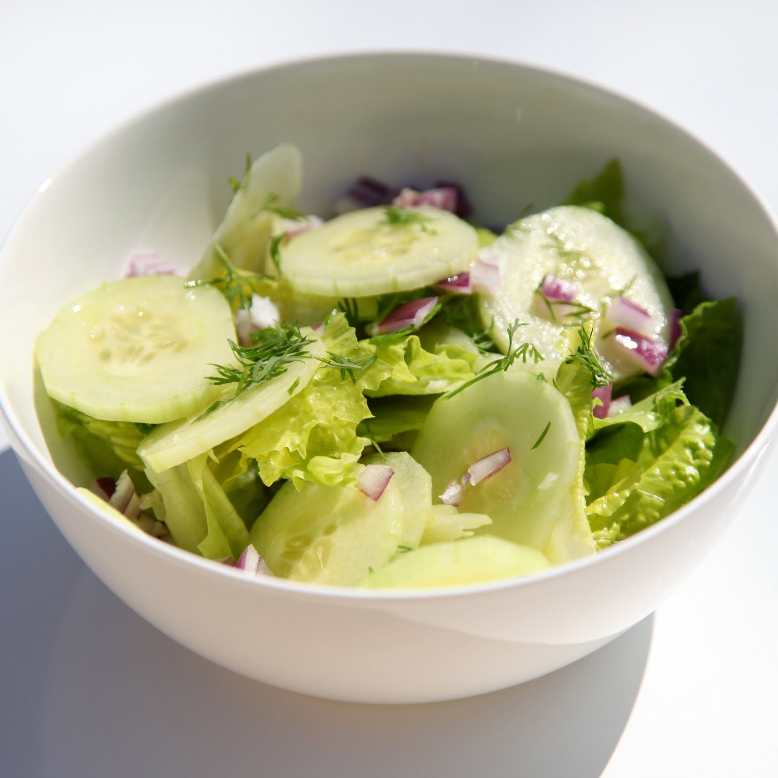 The 10 cent Diet: Fresh Cucumber & Dill Salad