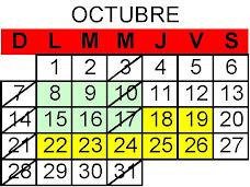 CALENDARIO DEL CURSO 07-2