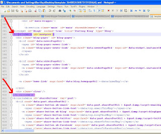 Notepad++ Edit Template