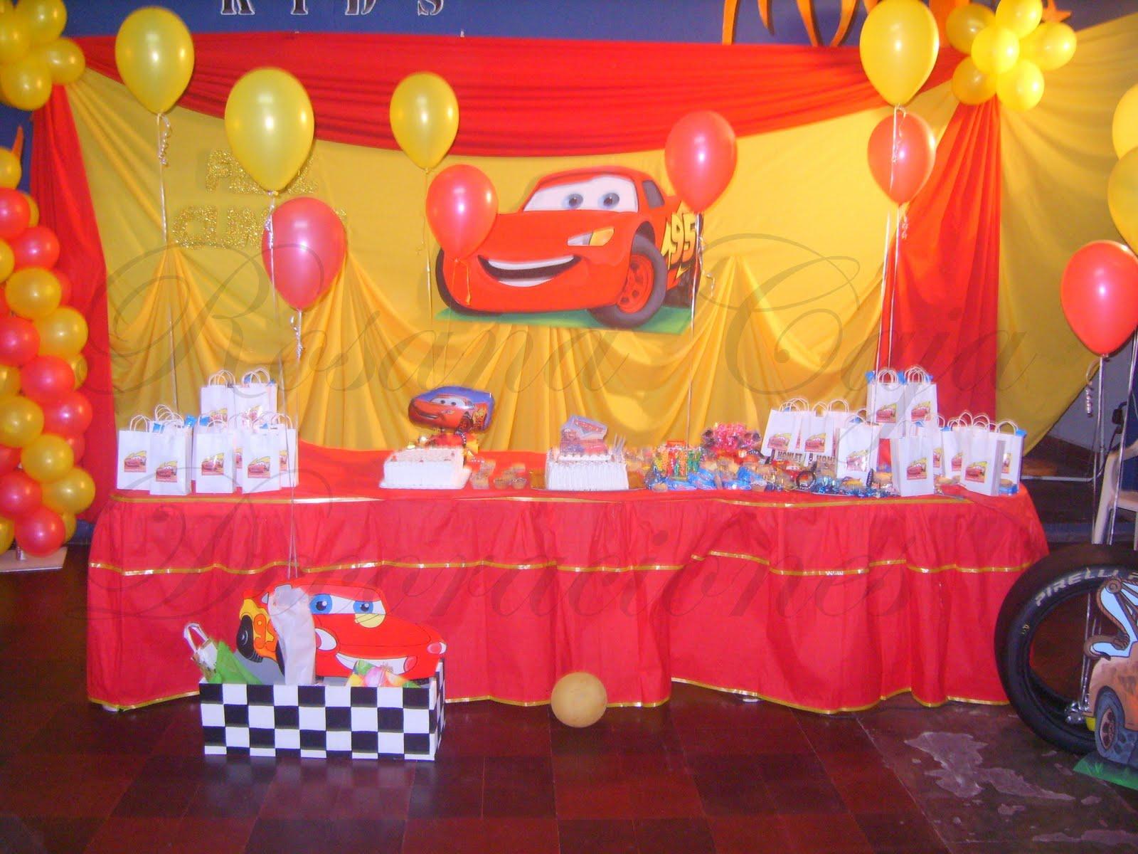 Fiestas de cars decoraciónes - Imagui