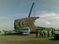 Patung 3 Mojang Harapan Indah dibongkar
