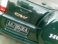 Arti 3 Huruf di Belakang Plat Nomor Kendaraan Bermotor