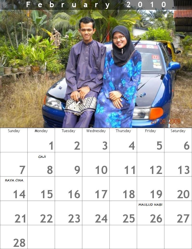 Calendar Februari 2010
