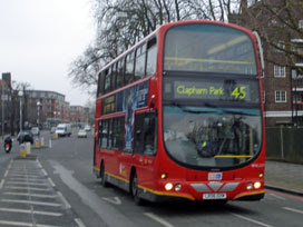 a 45 arrives at Clapham Park