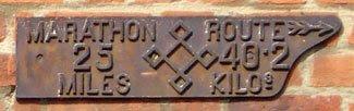 1908 Marathon plaque, Eton
