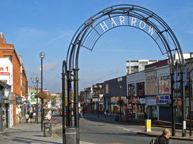 Arch over Station Road, Harrow