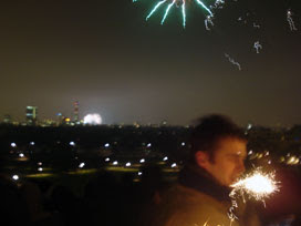 New Year 2009 on Primrose Hill