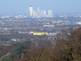 Canary Wharf from Addington Hills