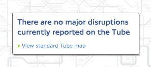There are no major disruptions currently reported on the tube