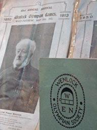 Wenlock Olympian Society memorabilia