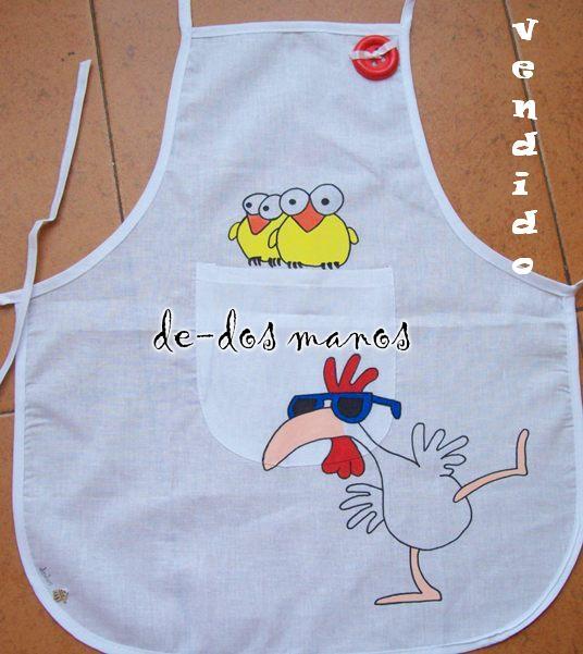 Delantales de cocina pintados a mano imagui for Delantales de cocina
