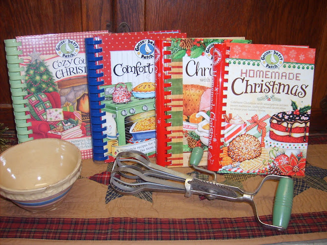 I have recipes in these four Gooseberry Patch cookbooks