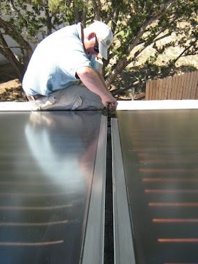 Installation of solar hot water panels