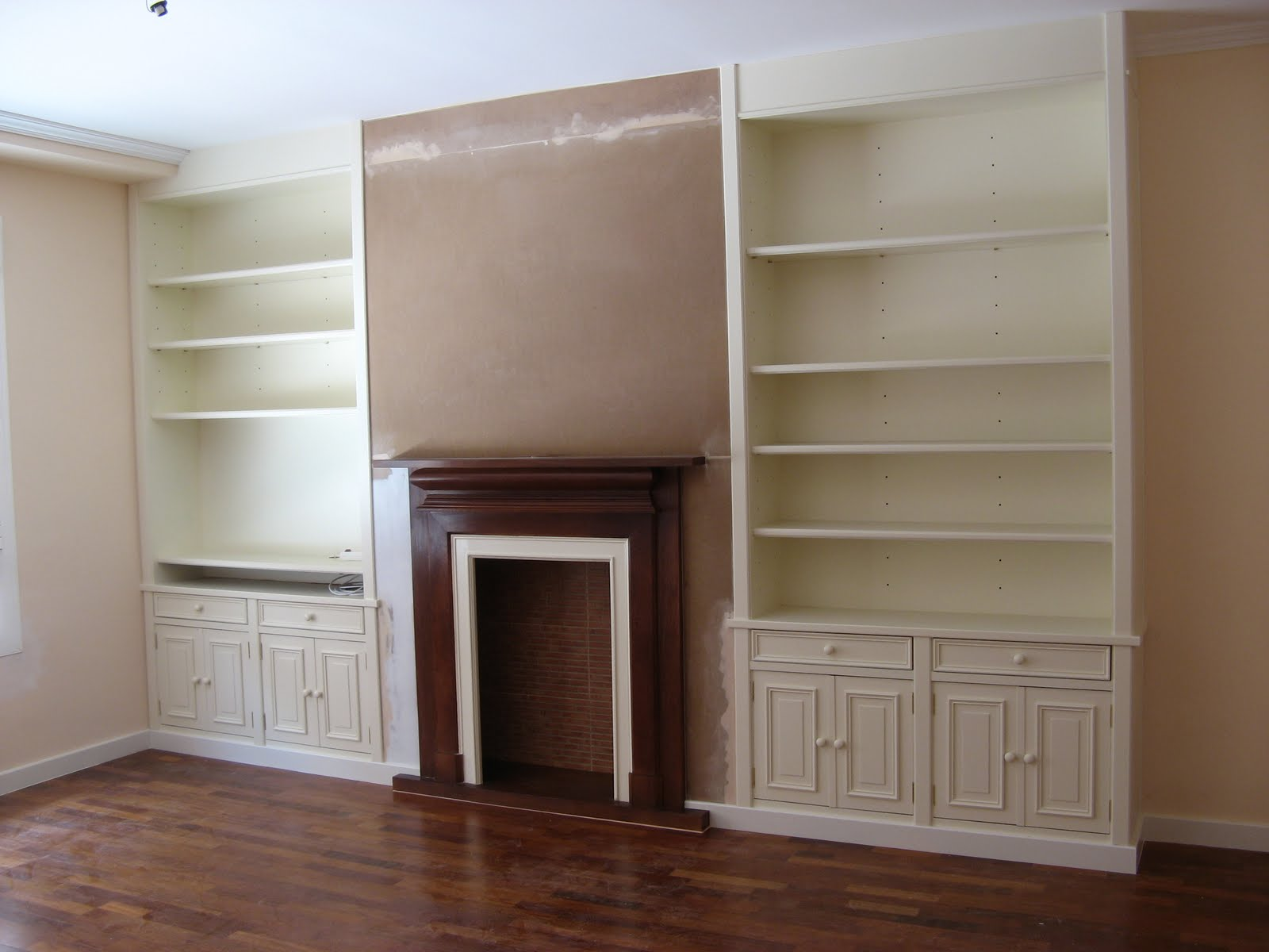 Librerias con chimenea - Librerias lacadas ...
