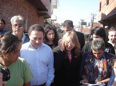 Ministra Alicia Kirchner visita Villa Celina