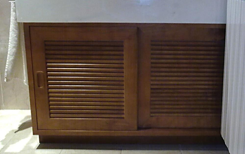 Armario lavabo en madera de cerezo muebles cansado zaragoza carpintero ebanista artesano - Muebles a medida en zaragoza ...