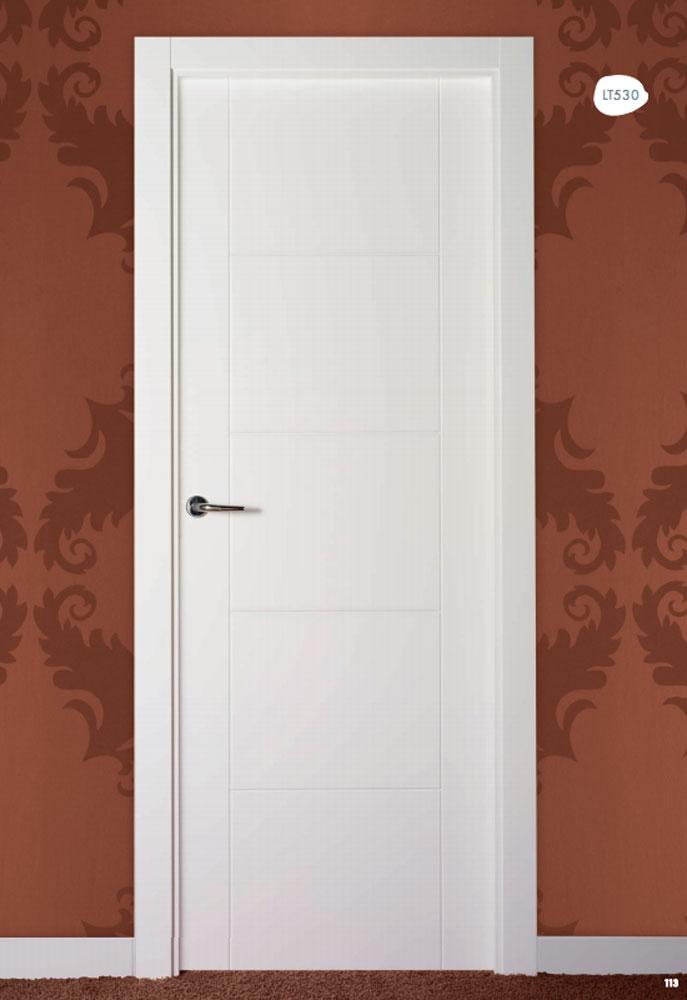 Puerta de interior lacada en blanco lt530 visel - Puertas lacadas en blanco ...