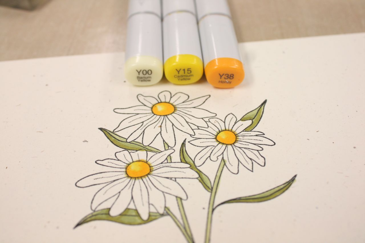 mish mash friendship jar with realistic water rh michellewooderson blogspot com coloring flowers with copic markers book Coloring Leaves with Copic Markers