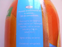 Zumo de naranja VITAFIT (LIDL) | El blog de las marcas blancas (www.blog-marcas-blancas.blogspot.com)