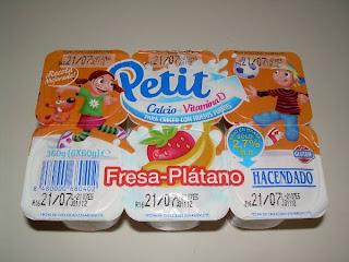 Petit fresa-plátano Hacendado de Mercadona (www.BlogMarcasBlancas.com)