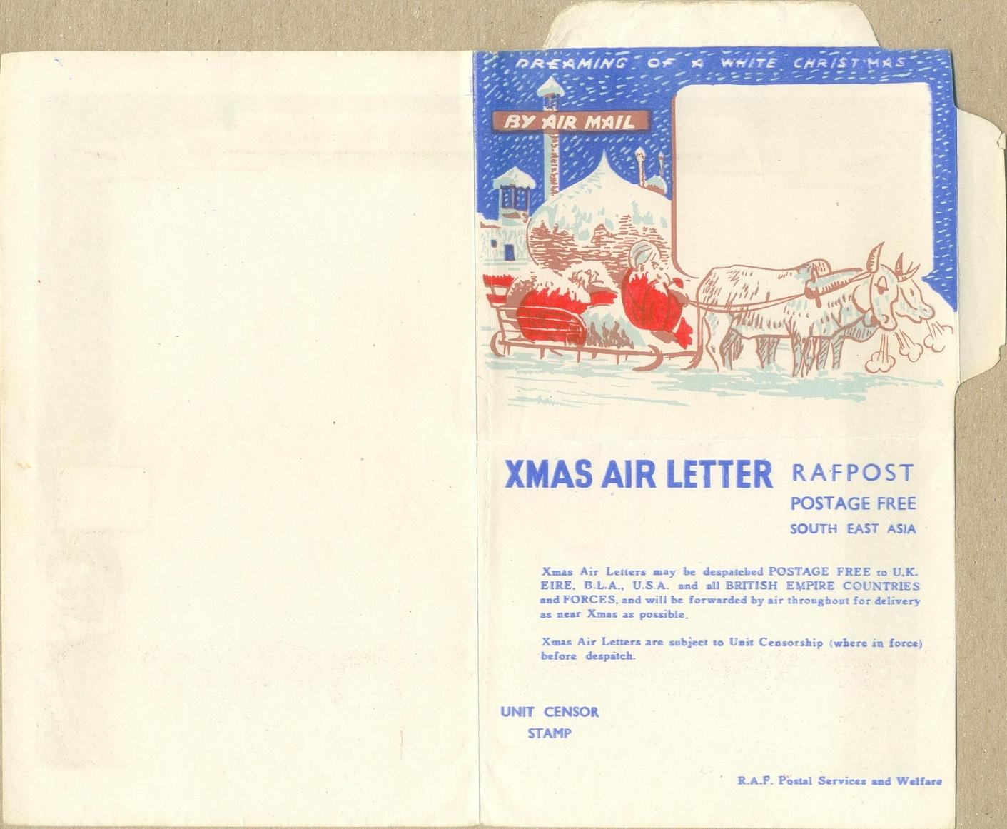Philatelic Incarnation Indian Military Air Letter Card Ww2