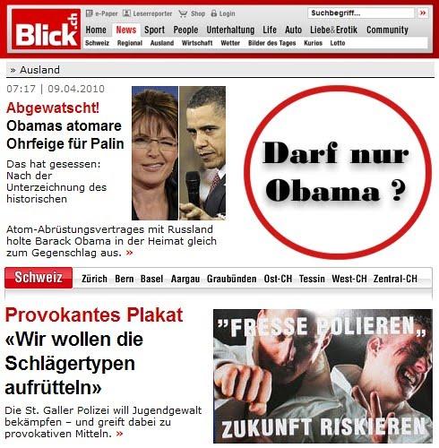 Ohrfeigen: Darf nur Obama?