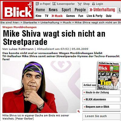 Morddrohung an Mike Shiva